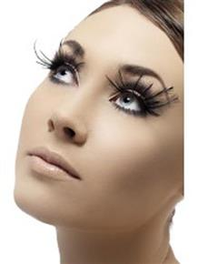 Black Feathers with Plume Fever Eyelashes