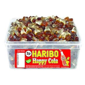 Haribo Happy Cola Bottles Tub