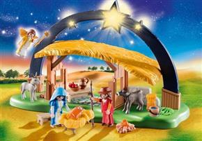 Illuminating Nativity Manger
