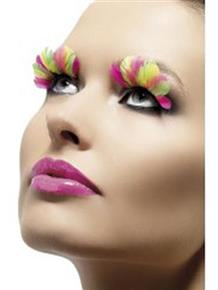 Neon Feathers Fever Eyelashes