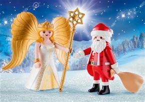 Santa with Christmas Angel